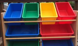Great for storing all kinds of toys. I used it for lego for years. looks barely used.