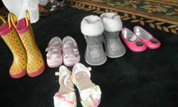Shoes for girls, sizes 3 and 4  Bought in stores like Gap, Gymboree