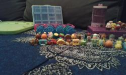 73 like new Shopkins. Smoke free, pet free home. Includes mobile mary (ultra rare). + cases+ baskets and bags.