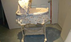 Bassinet in excellent condition. Bassinet has built in music, vibration and light. Bassinet can be removed from stand.