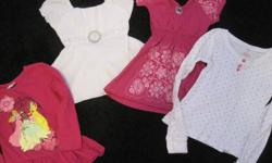 I have some clothes for a little girl, sizes 4 and 5. Everything is in great condition, stain free, no rips or tears and coming from a smoke free home!!   Brands include; The Children's Place, Old Navy, Disney, Sears and Joe.   Ten items all together