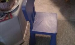 Ikea childs chair. Blue.