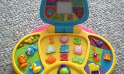Product Features Enter the age of discovery Happy, healthy children learn with developmental toys to stimulate their senses, minds and imaginations Our Preschool Laptop is packed with fun activities and rewarding lights and sounds ? a great way to