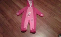 1 piece, Piglet snowsuit - 12 mths size.  Wore 3 times as baby outgrew :)   Asking $25 as it was washed once and in new condition!   Assume still available if ad still here :)