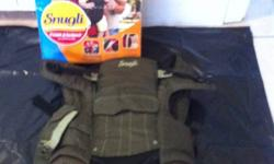 I have for sale a Snugli brand baby carrier. Used 5 times. For weight 7-26 lbs, 3 carryin positions, comforatable pads for shoulders, breathable material to keep baby cool. In mint condition. Smoke free home, please contact through ad. This ad was posted