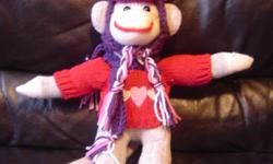 Sock Monkey       Hand made one of a kind ( NOT something Made in China )   CUSTOM MADE TO YOUR ORDER ( You pick Color & Style )   Local Winnipeg Mother of 6 kids Making Hand Made Gifts     Sock Monkeys ( All Different Colors & Styles )    $ 5.00