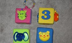 NOW $3 - Like new, big soft blocks for baby to play with. $4 for all 4