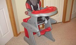 Combi High Chair $ 40.00. Can be used as a high chair or as a table & chair. 5 point harness & reclining seat back. Great Condition.