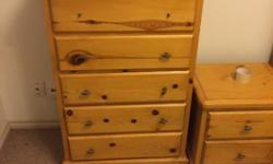 For Sale solid pine honey stained solid line dresser, night stand and bunkbeds set. Prive is firm offers will just be ignored , mattress not included. Can deliver for a price.