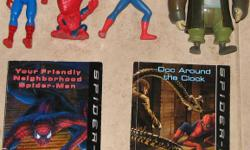 Spider man Books & Toy Figures $8.50 . From a smoke free Home (not a store) All 400+ of my Kijiji items ARE available if still listed. Email to arrange an afternoon/evening pick up. See Kijiji map link for approx. location. Please click on Kijiji link to
