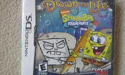 Brand New Sponge Bob Drawn to Life DS Game. still in original wrapper (never opened). received for a gift and already have. excellent game.