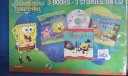 Brand new SpongeBob Squarepants 3 books and 3 Stories on CD.  Asking $15 OBO.  Please see other ads. CHRISTMAS IS COMING!!