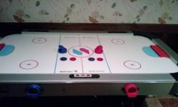 Sport Craft Air Hockey Table Works Perfectly $60.00 !! Comes With 4 Paddles & 3 Pucks !!