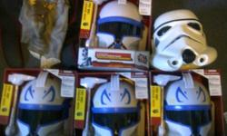 Perfect for Halloween . The new in the Box Captain Rex Clone Trooper Helmets are NEW in box, Star Wars Toys - Clone Wars Captain Rex Helmet Get ready to join the Star Wars battle with this Clone Wars Captain Rex Helmet. Lead the 501st Clone Trooper Legion