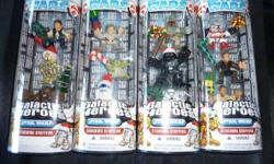 $15 each pack or all 4 for only $50   4 Packs of Star Wars Galactic Heroes in a Christmas Motif. Brand New in Original Packaging Set 1 - Luke Skywalker, Yoda & R2D2 Set 2 - Darth Vader, Boba Fett & Stormtrooper Set 3 - Obi-Wan Kenobi, Anikin Skywalker &