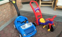 Step 2 push wagon $35 Fisher Price Rock Roll n Ride XL $35 Both very good condition