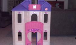 "For sale. Barbie step 2 doll play house in immaculate condition. These retail for $250+ new. Measures approx 31""x20""x46"". Please call 801-1565"