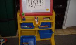 This desk is in excellent condition and very clean.It also comes with lots of new washable and jelly pencils etc.  Lots of space for papers etc.   Think Christmas! Makes nice gift for boy or girl.