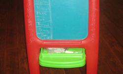 Blackboard/magnetic whiteboard for children 3 years and older. Excellent condition.