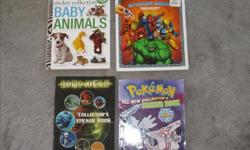 Baby Animals - Ultimate sticker collection - $4 Marvel Heroes - sticker book treasury - $4 Bionicle collector's sticker book - $4 Pokémon - sticker book - $4 Pirate Quest ultimate sticker book - $3 Disney Princess sticker book treasury - $3 How to draw