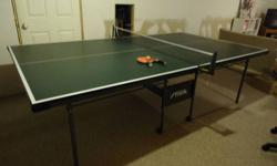 Stiga QuickServe 2000 Table Tennis Table - Model T8172   If you want quality - this is the table!     Stiga has been around since 1944, meeting the needs of Table Tennis players around the world. Stiga products are manufactured by Escalade Sports, one of