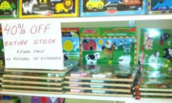 TOYZ Timmins End of the season store closing sale. EVERY THING in STORE 40% off Still plenty of Melissa & Doug puzzles, play food and role play outfits left, come check us out before it's too late This ad was posted with the Kijiji Classifieds app.