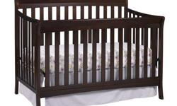 Selling a Stork Craft Avalon Crib. The Stork Craft Avalon 4-in-1 Convertible Crib will grow with your child. It does have teeth marks on the one side of the crib (included photo). It's unassembled for easier pick up. * Converts from a crib, to a toddler