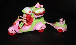 This cute and deliciously scented figure with her scooter will allow your child to have many adventures in the new year. Strawberry doll is easily removed from behind the wheel so her other friends can drive. Smoke free home. Ad will be deleted when