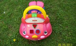 Stride to Ride Car/Walker  The blocks for the shape sorter are misplaced and the sounds no longer work.  It has been outside but still functions great as a car or a walker.  Reason for selling is my children have outgrown it.  $5 or best offer.  Need it
