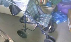 hi i have a graco stroller in ok shape little faded big wheels on it rolls really good