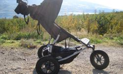 �  $ 450 Mountain Buggy stroller (single urban). One of my favourite purchases. It comes with separately bought Jolly jumper cup holder, Mountain Buggy sun cover, Mountain buggy rain cover, front seating handle bar, car seat attachment as well as a very