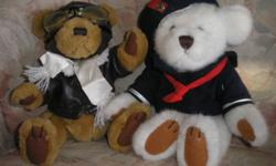 All come from a pet-free, non-smoking home.  Condition ranges from new with tags to used.  Most are in excellent or good condition.   Brass Button Bears, aviator and sailor.  $20 each, $30 for both Baby Gund and Carebear.  $12 each, $20 for both