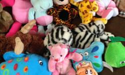 Lot of stuffed animal.