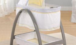 Great condition. Baby loved the swing motion! It was our saviour :) Bought at Walmart for $229.97 (http://www.walmart.ca/en/ip/summer-infant-bentwood-bassinet-with-motion-grey-chevron-leaf/6000193237362) I can deliver within Ottawa-Gatineu With its