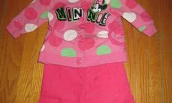 This super cute Minnie mouse outfit was only worn a few times. There are no rips or stains. It is in great condition!! It's size 6 months. * The sweater is button up, not a zipper. ASKING $5.00 *Please check out my other ads, I have tons of girls clothing
