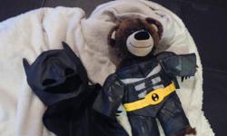 Build-a-Bear with super hero outfit