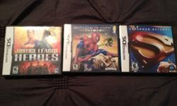 We have 3 Dsi games for boys (or girls!) All in great working condition! Perfect for stocking stuffers! Spiderman, Superman and Justice League Heros. This ad was posted with the Kijiji Classifieds app.