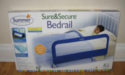 """Brand new condition Sure & Secure Single Bed Rail.  Features: Accommodates twin to queen-size mattresses and platform beds Folds down for easy access to the bed Assembles in less than 5 minutes Measures 42.5""""L x 20""""H 42 1/2'' l. Great item to have for"""