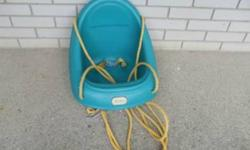 #1 - Little Tikes Swing Seat Belt  High Back Can be used on outdoor swing set or tree branch $20.00   #2 - Step 2 - Pelican Swing Excellent Condition $25.00   #3 - Red Fisher Price Swing  with Tray Red Fisher Price Swing with High Back and Removable