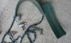 Swing with chain and anchors - originally purchased from Home Depot. Rectangular seat needs chain or rope. They just need a wash.