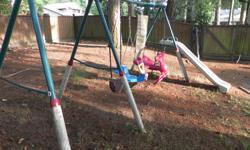Hedstrom swing set up slide