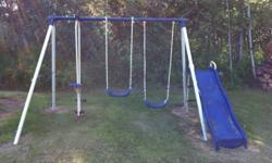 I bought this swing set for my day home but I ended up working elsewhere after a short time and no longer need it as I don't have children of my own or anyone who would use it. It wasn't used a whole lot and is only 3 years old. I'm asking $100.00 but I'm