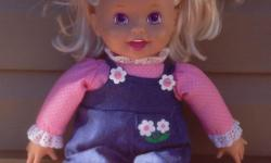 Talking Blonde Hair Doll Says: Find where I am ticklish I will tell you a secret. Works great. Comes with batteries Pick up Northwest end of Regina. Any question please email your phone number and I will contact you. Thanks