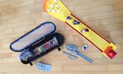 Tech Deck Collection including case, ramp & bowling game in great shape