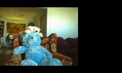 POSTING FOR FRIEND: Lg blue teddy bear=$20 Med white =$10 South end/ Nanaimo call 250-591-3277