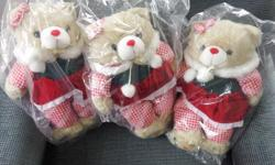Brand new, still in the package, Christmas teddy bears. $10.00 each or all 3 for $25.00.