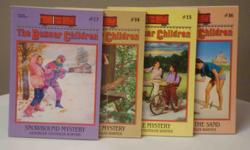 Ages 9-12 Books #13-#16 * Snowbound Mystery * Tree House Mystery * Bicycle Mystery * Mystery in the Sand Printed in the US. Excellent condition.