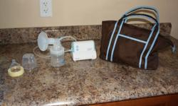 The First Years - Mi Pump Breast Pump Only used once or twice, All parts included, Comes with bottle and carrying bag, all instructions included. In Excellent condition!