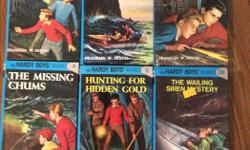 6 in the hardy boys series 1 2 3 4 5 and 30. All of them for 5 dollars.