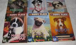 These JUNIOR Chapterbooks are in EXCELLENT, LIKE NEW condition, unless noted otherwise for $2.00 each or buy 3 books for $5.00 THE PUPPY PLACE by Ellen Miles (Reading Level 2) - Bandit - Buddy - Maggie and Max - **SOLD** - Moose (slight wear to the spine